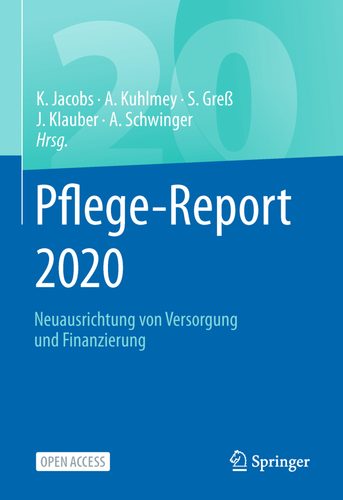 Cover der WIdO-Publikation Pflege-Report 20